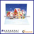 3d natal pop-up cartão