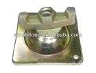 Pressed steel formwork accessory swivel nut with tie rod