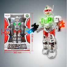 battery operated new musical ABS creative robot with EN71