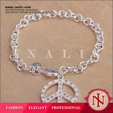 Lekani SGS Certified silver hope peace love bracelet H063