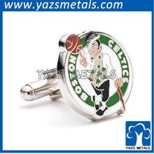 Latest designed brass basketball cufflinks