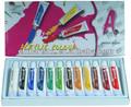 12*12ml pintura acrílica de color camel acrílico de colores