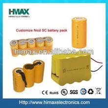 Hot-sales OEM AA/SC size battery ni-cd 7.4v battery pack