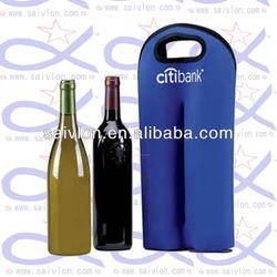 Neoprene Twin Wine Bottle Cooler Carrier, neoprene wine bottle cooler
