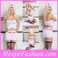 atacado duas peças branco enfermeira sexy traje
