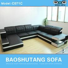 2014 Latest living room furniture sofa with LED light cheap sofa