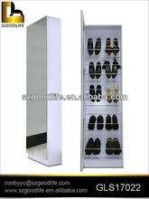 top-grade mirrored steel rack shoe cabinet with 2 doors