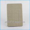 ivory textile fabric beauty smart luxury case for ipad mini