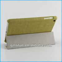 peak green textile fabric beauty smart case for ipad mini