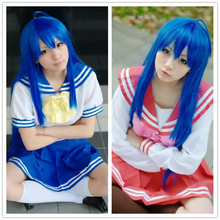 Top Fashion Blue Fairy Tail Wendy Marvell Cosplay Wig