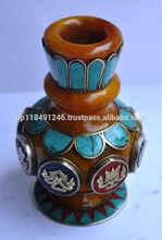 Amber Stone Setting Flower Vase