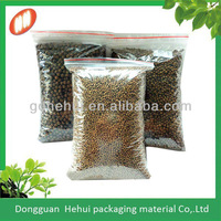 soft LDPE turtle feed packaging plastic bags with zipper