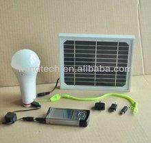 3w High power solar led bulb light home use LED Mini Solar Light Kits Home Use