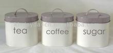 High quality Oval tea coffee sugar canisters