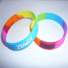 Custom 1 inch silicone bracelet / rubber wrist band / ink filled wristband