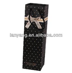 red wine shopping kraft gift paper bag