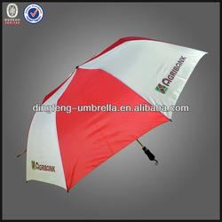 8k plastic handle 2 folding auto open umbrella with red and white 2 fold umbrella