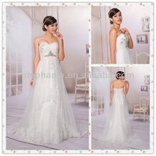 Guangzhou Stephanie Wedding Dress A6835 Starburst Bodice Goddess Drape Women's Wedding Dresses