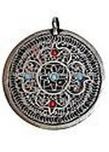 Sacred Mandala filigree Amulet Pendent Locket