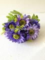 Alta imitação artesanal bicolor seda casamento buquê de flores para venda