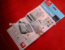 Compactor self sealing plastic bag plastic header bag
