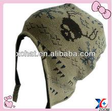 winter knitted black ski mask hat knitting pattern 2014 Winter knitted earflap wholesale straw hats beanie hat