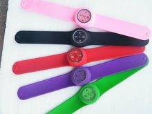 custom adjustable silicone slap wrist band