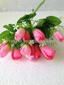 2014 vendedor caliente hermosa 15 cabezas ramo de flores artificiales para decoración de hogar desde china manfaturer