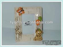 Bulk baby wood grain design handprint bear photo frame