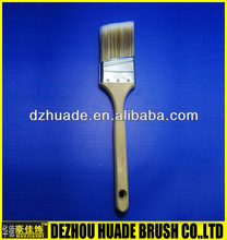 Synthetic Fiber ,oblique stainless steel ferrule, long wooden handle with nature color ,US paint brush