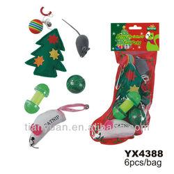 Christmas gift set of cat toys dog toys set