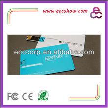 novelty technology new product credit card 4gb usb custom logo