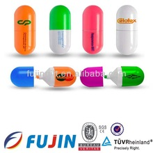 Multicolor medical pill shaped plastic pen for promotion