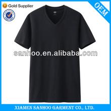 Bright Color Summer Wear Cotton Wholesale T Shirt 3D Crew V Neck For Sale