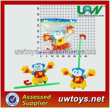 C010 empujar a lo largo de natación oso / pull and empuje de los animales