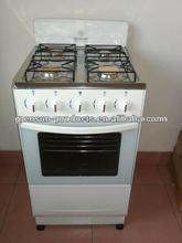 Kitchen appliance gas range free standing stove with windguard/full glass door/brass burner