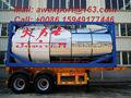 Pies de acero inoxidable ISO de contenedores remolque tanque de aceite