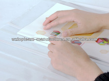 Newest Design Transparent Adhesive Book Cover, PVC Clear Book Cover With Stick Strips