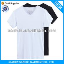 Factory Cheap Price Hip Hop T Shirt Deep V Neck Printed Custom Design