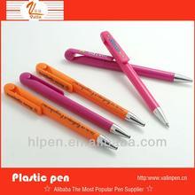 hot sale plastic customize logo pen stylus carton pen