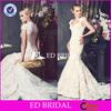XL779 cap sleeve high quality lace backless mermaid 2014 spanish style wedding dresses