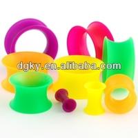 Customized piercing jewelry silicone ear tunnel plug
