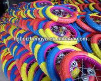 Pu foam wheel FLAT FREE TIRE/ foam tire / children's bicycle foam tire