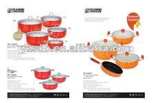 2014 popular enamelware/enamel cookware set/kitchenware set