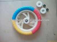 Pu foam wheel FLAT FREE TIRE_foam tire for baby car_Puncture proof tire