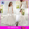 XL787 sexy deep v neckline two shoulders open back floor length ball gown 2014 long tail wedding dresses