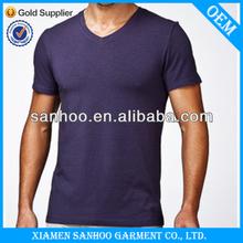 Men Bulk V-Neck Custom T-Shirt Printing Wholesale Cheap Plain