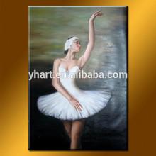 Wholesale Handmade Beautiful Ballet Girl Dance Painting For Decor