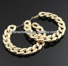 Simple Chain Hoop Fashion Earrings