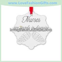 Personalized Nurse Snowflake Ornaments